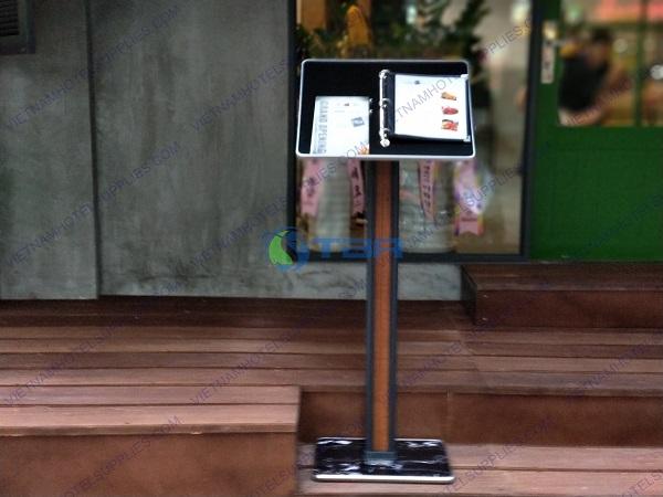 Bảng menu nhà hàng đặt tiền sảnh chân đế đá hao cương