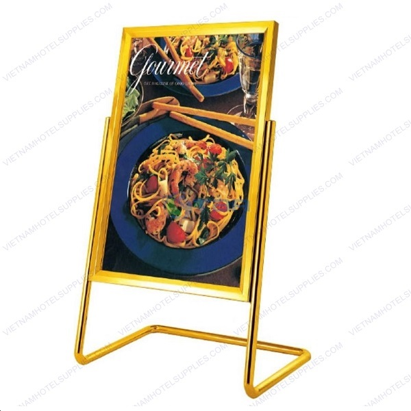 Bảng menu nhà hàng inox mạ vàng khổ lớn