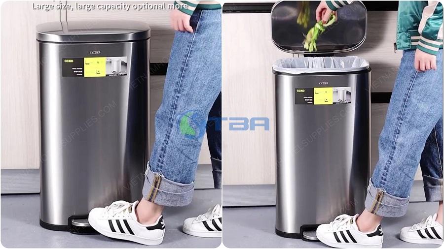 Thùng rác inõ đạp chân cao cấp văn phòng