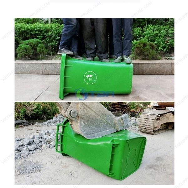 Thùng rác nhựa HDPE có bánh xe 120L