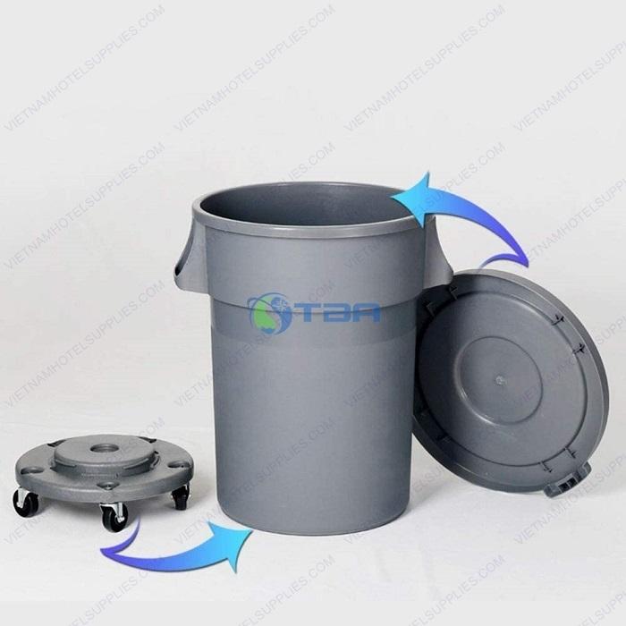 Thùng rác nhựa tròn 80 - 120L