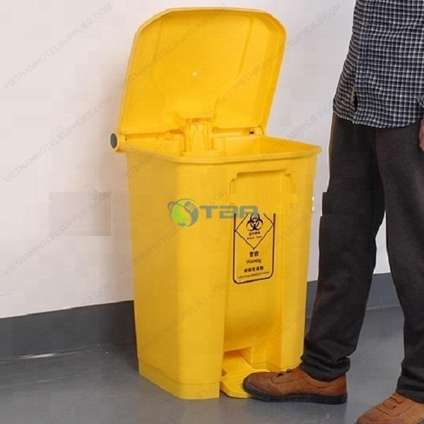 Thùng rác y tế bệnh viện màu vàng 45 lít