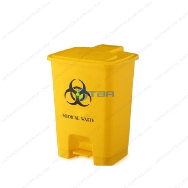 Thùng rác y tế đạp chân lây nhiễm nguy hại