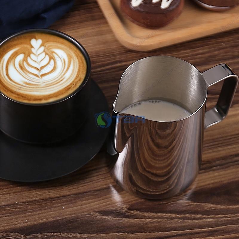 Ca đong đánh sữa inox quầy bar cafe 300-350-500-550-900-1000ml