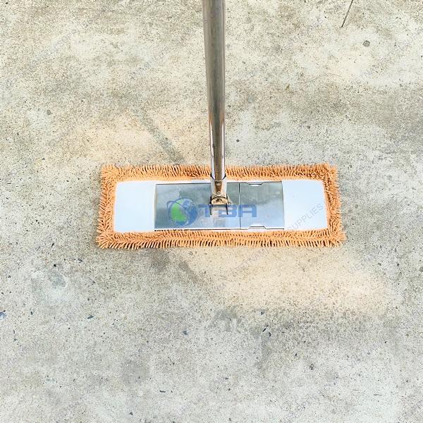 cây lau siêu sạch sọi microfiber bản inox 45cm