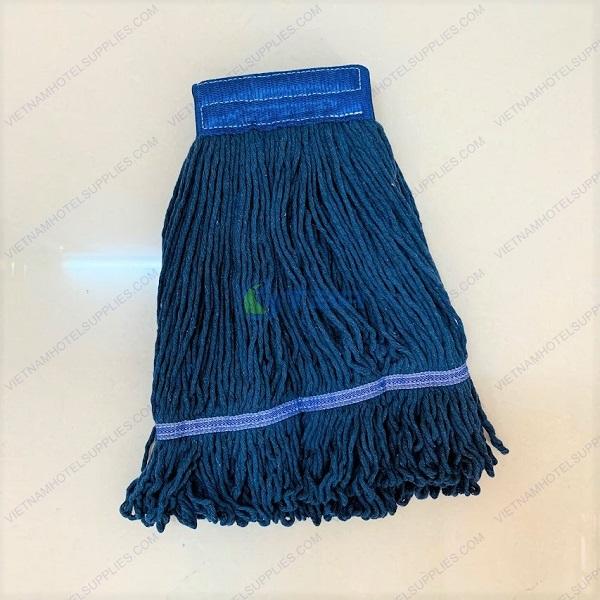Giẻ lau sàn ướt cotton màu xanh dương cho cây lau đầu kẹp