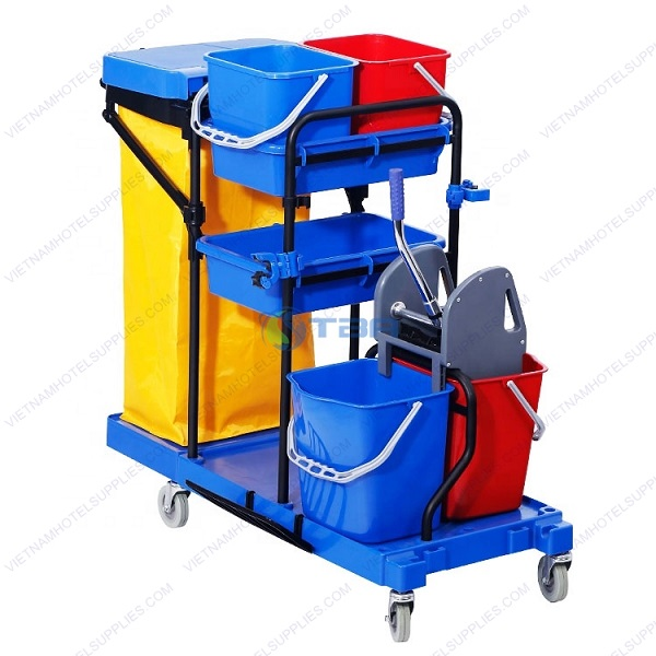 Xe làm vệ sinh khung thép trong bệnh viện khách sạn
