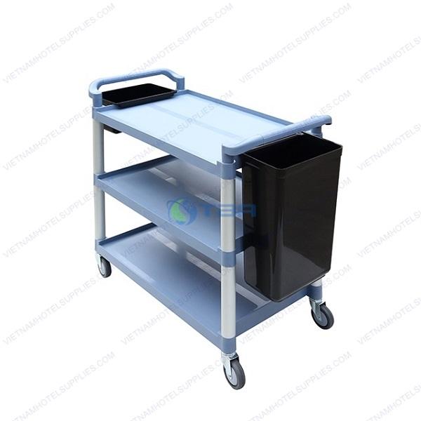 Xe đẩy phục vụ thức ăn và dọn bàn ăn đa năng